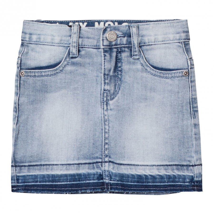 Molo Bess Skirt Spring Blue Farkkuhame