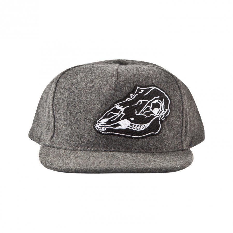 Molo Big Shadow Hat Dark Grey Melange Lippis