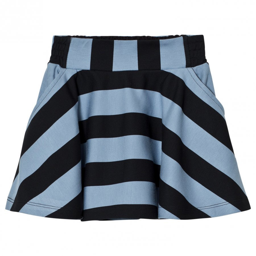 Molo Brenna Skirt Faded Denim Stripe Midihame