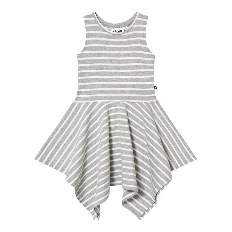 Molo Campbell Dress Grey Melange Stripe Mekko