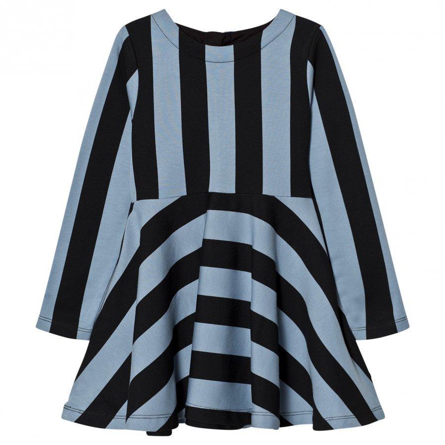 Molo Carmen Dress Faded Denim Stripe Mekko