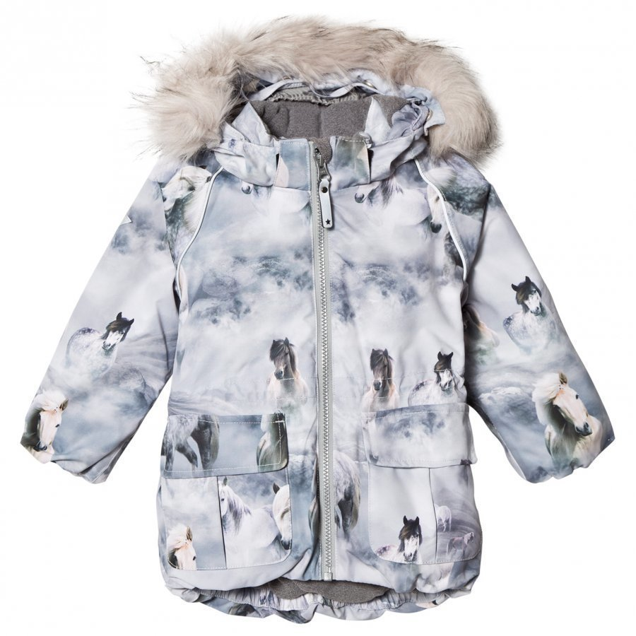 Molo Cathy Faux Fur Jacket Pony Toppatakki