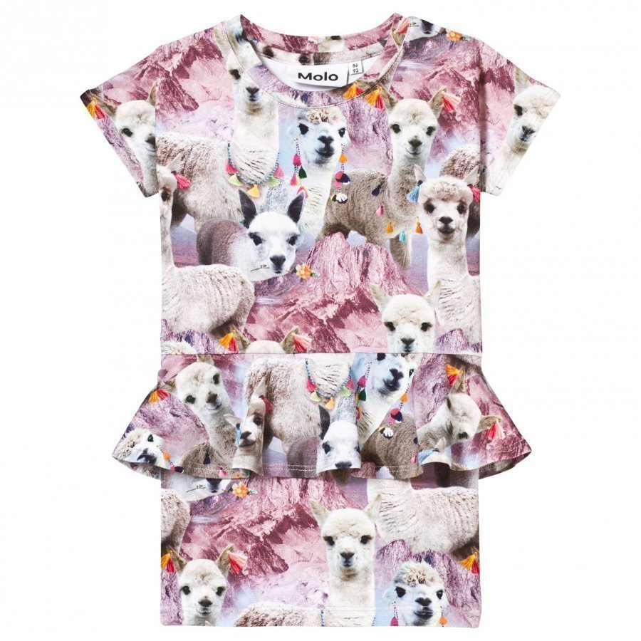 Molo Christina Dress Lovely Llama Mekko