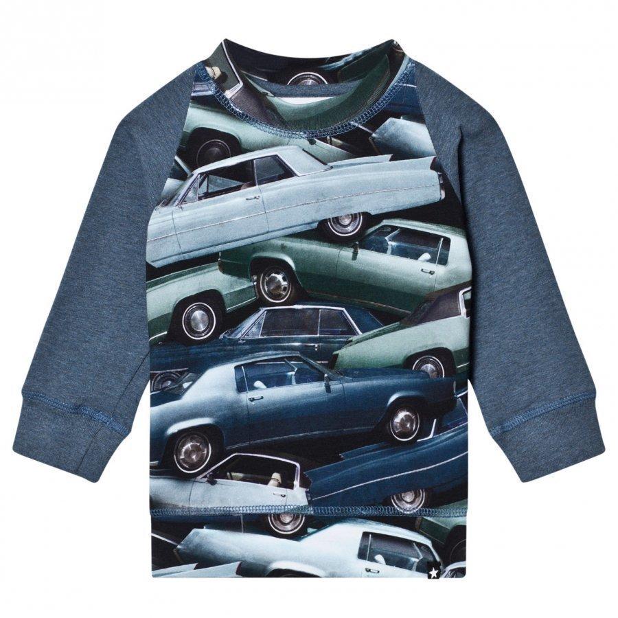 Molo Eliot T-Shirt Stacked Cars Pitkähihainen T-Paita