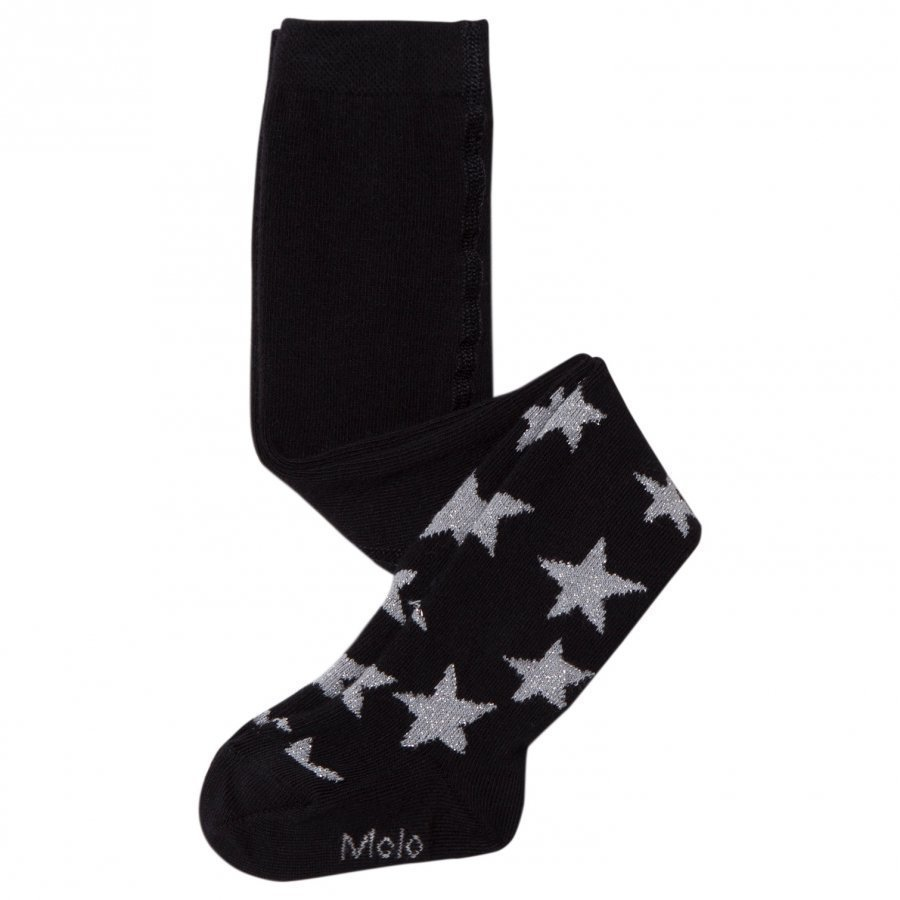 Molo Falling Star Tights Black Sukkahousut