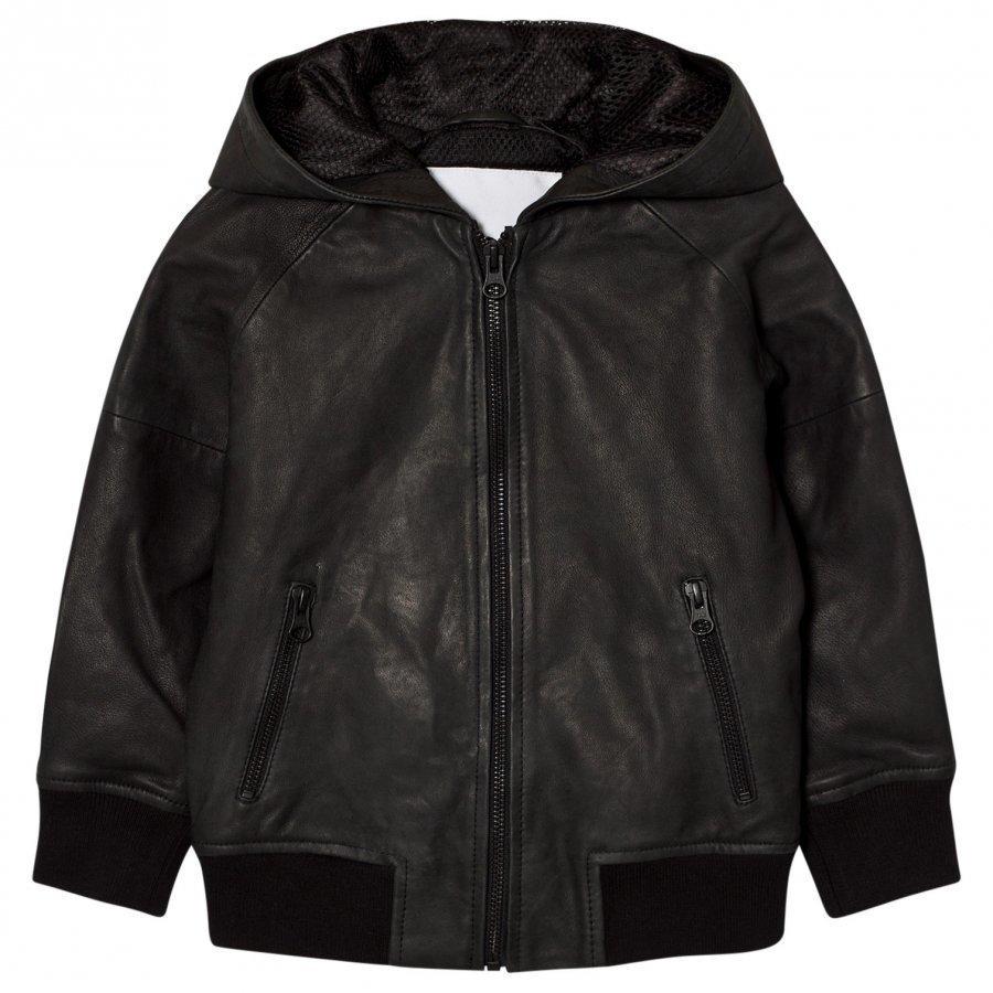 Molo Hector Leather Jacket Black Takki