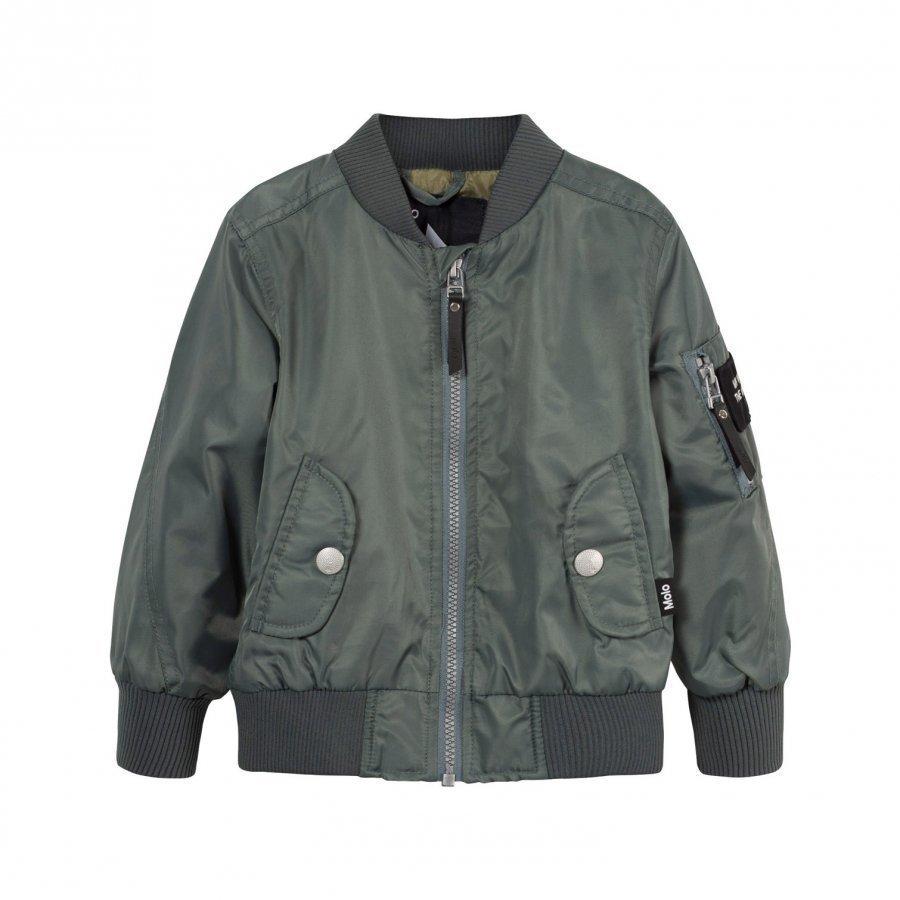 Molo Hiker Jacket Metal Green Bomber Takki