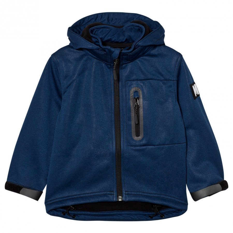 Molo Hogan Soft Shell Jacket Estate Blue Melange Toppatakki