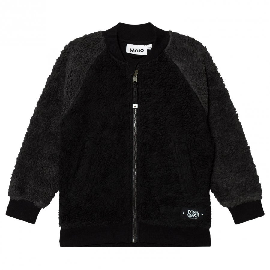Molo Hooley Fleece Jacket Black Fleece Takki