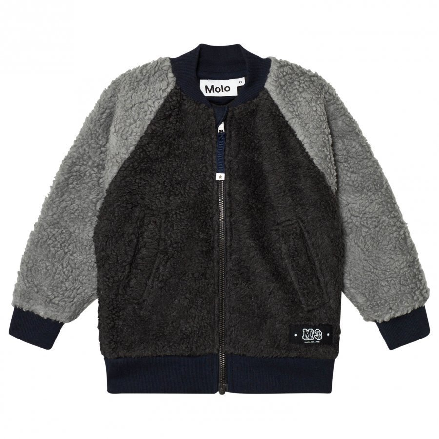 Molo Hooley Fleece Jacket Dark Grey Fleece Takki