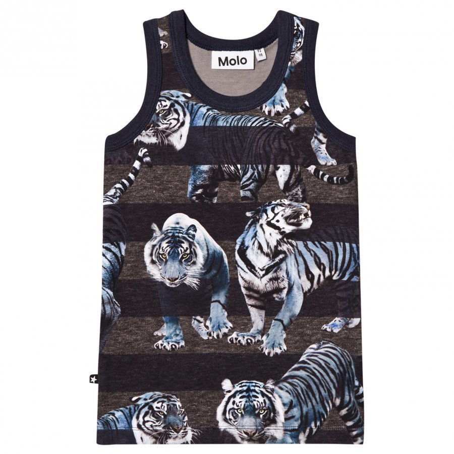 Molo Jim Tank Top Blue Tigers Liivi