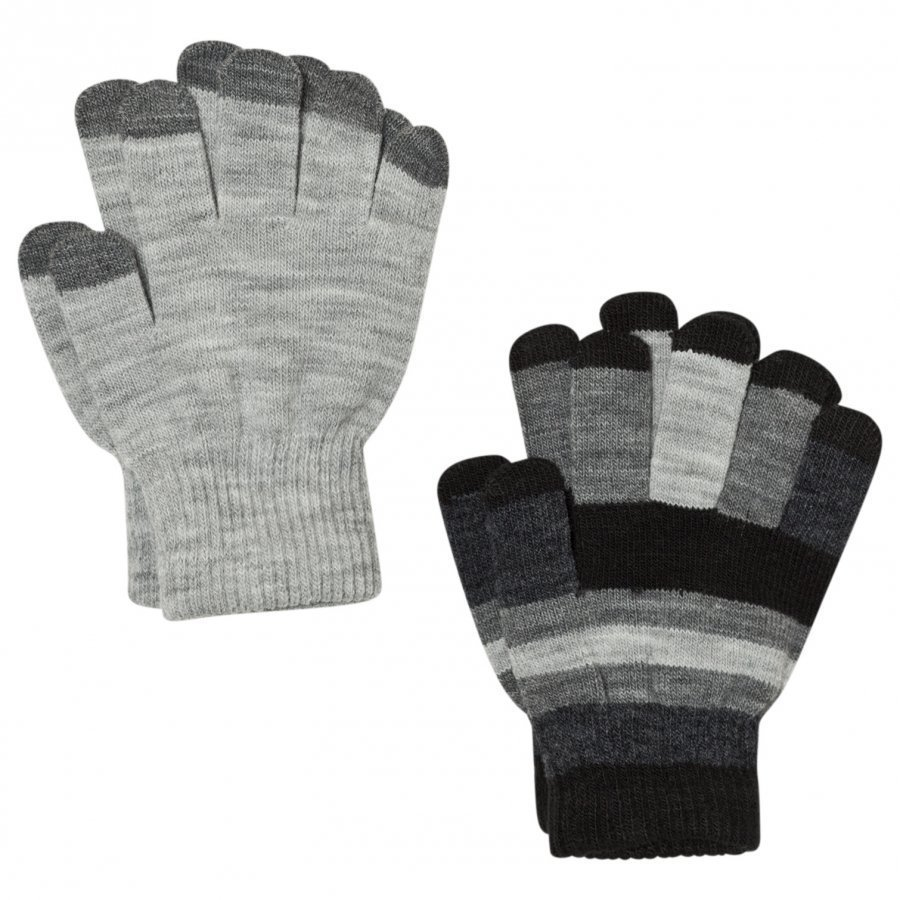 Molo Kei Gloves Set Grey Melange Villahanskat