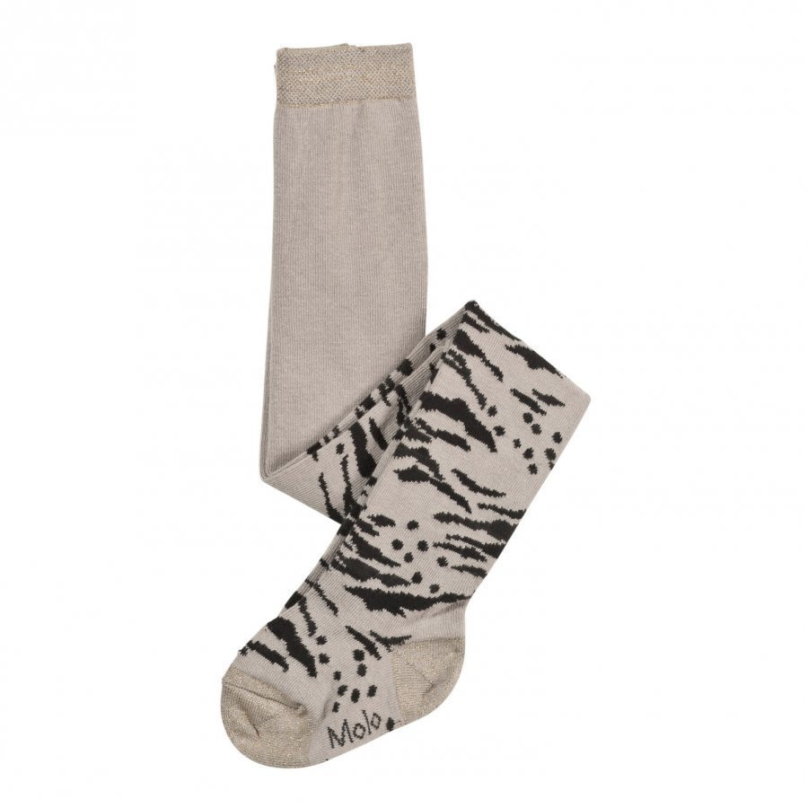 Molo Leo Tiger Tights Opal Grey Sukkahousut
