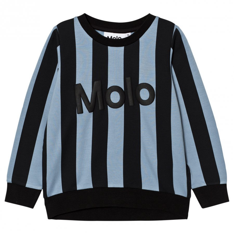 Molo Maya Sweatshirt Faded Denim Stripe Oloasun Paita