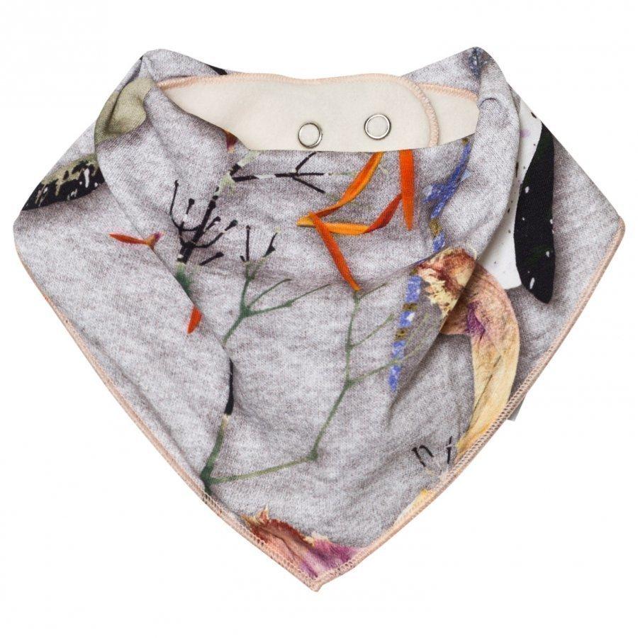 Molo Nayela Bib Paper Petals Melange Ruokalappu