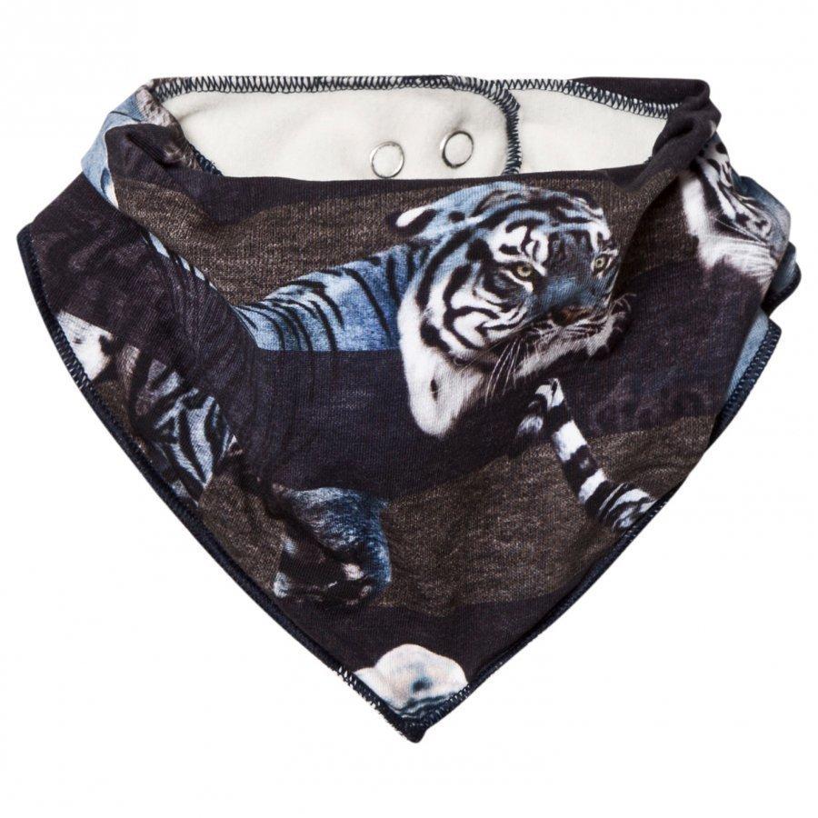 Molo Nick Bib Blue Tigers Ruokalappu