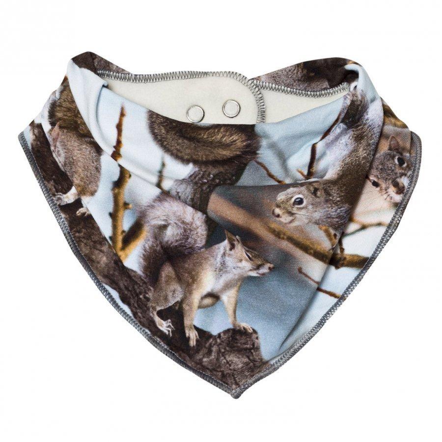 Molo Nick Bib Squirrels Ruokalappu