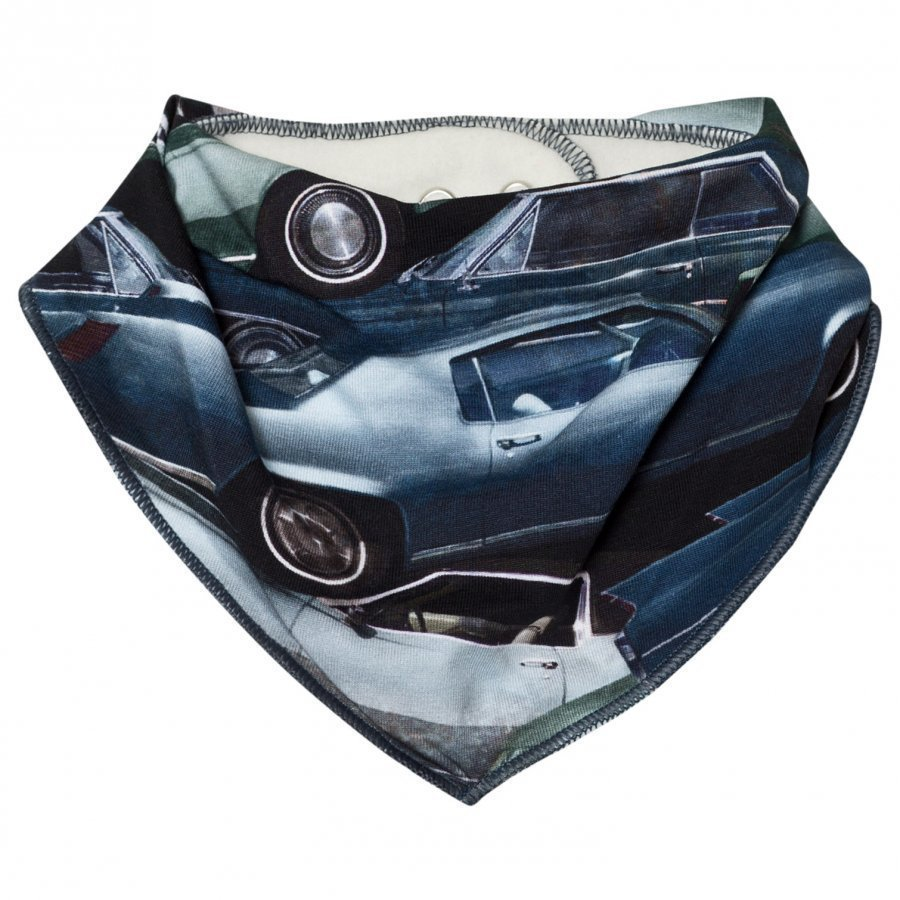Molo Nick Bib Stacked Cars Ruokalappu