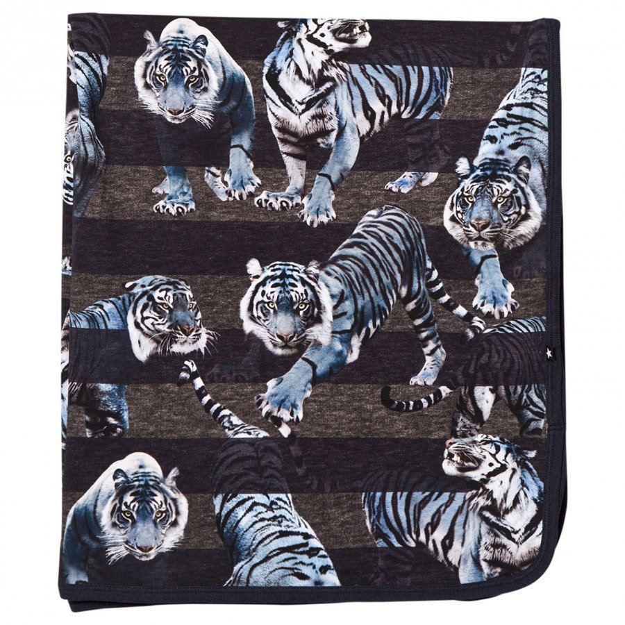Molo Niles Blanket Blue Tigers Huopa