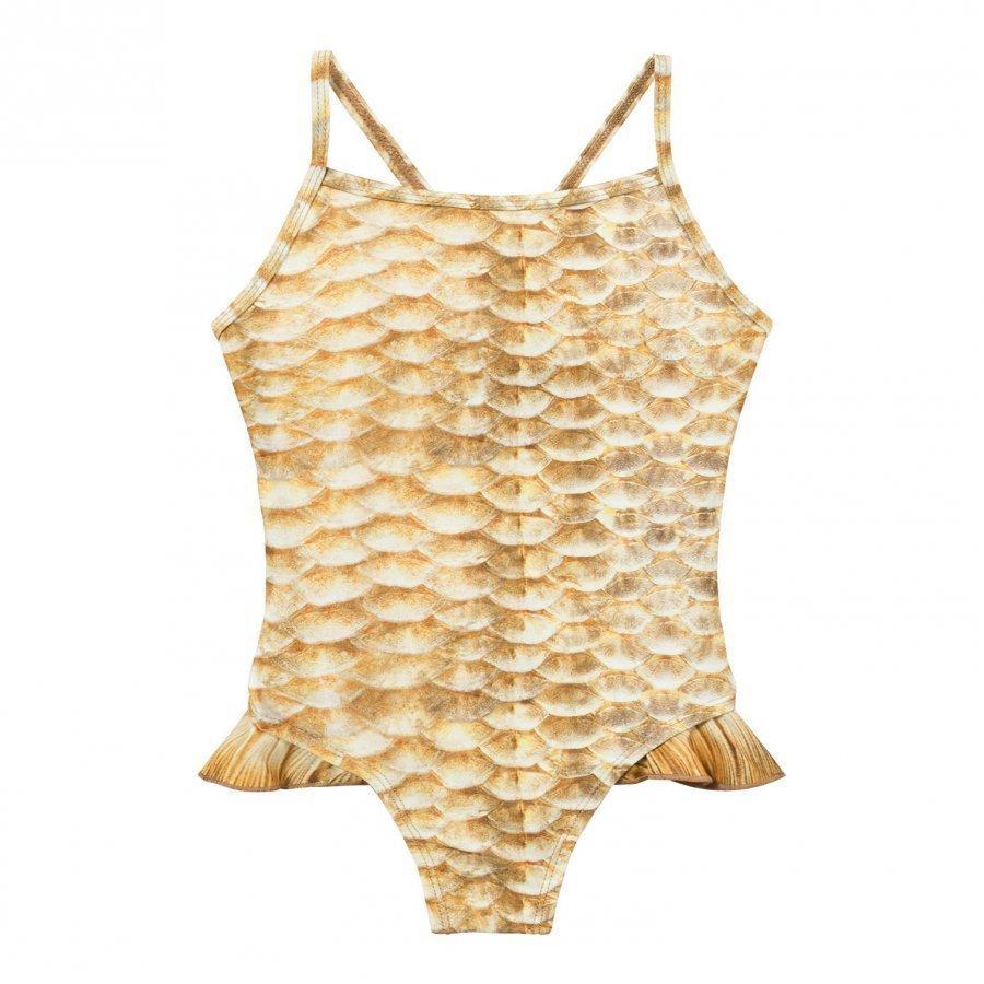 Molo Noona Swimsuit Gold Fishshell Uimapuku