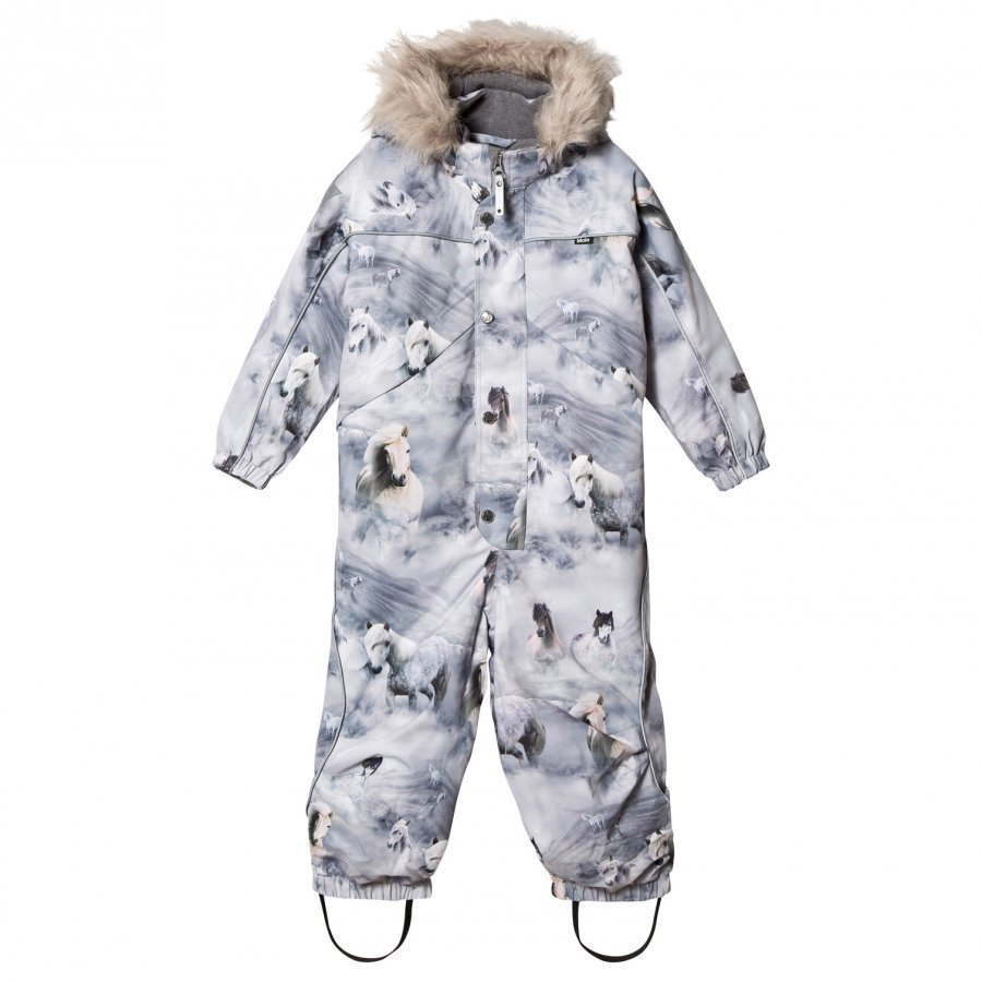 Molo Polaris Faux Fur Snowsuit Pony Toppahaalari