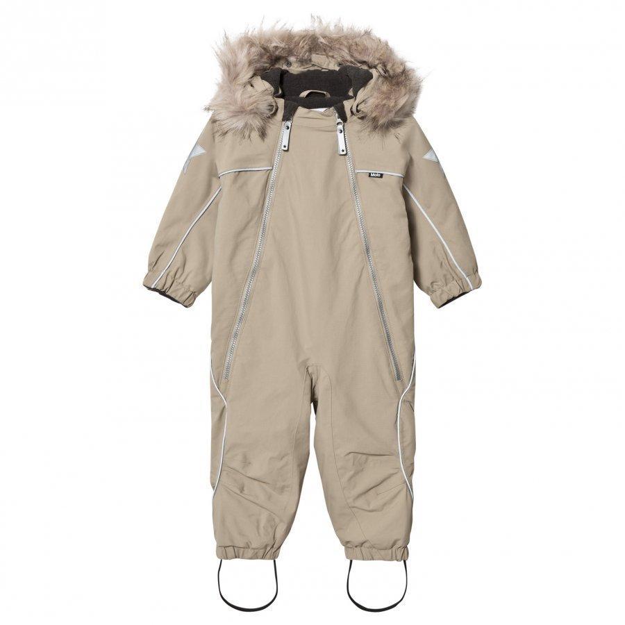 Molo Pyxis Faux Fur Snowsuit Aluminium Toppahaalari