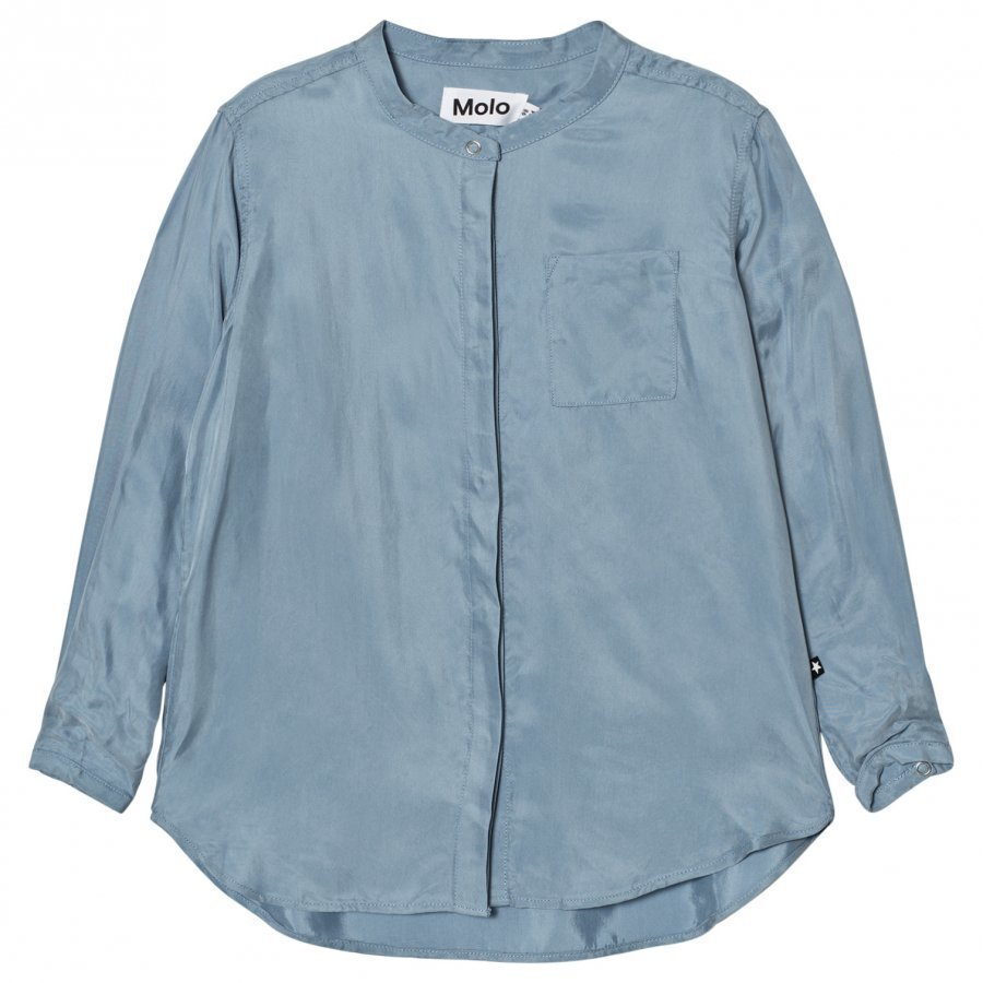 Molo Rafa Blouse Faded Denim Kauluspaita