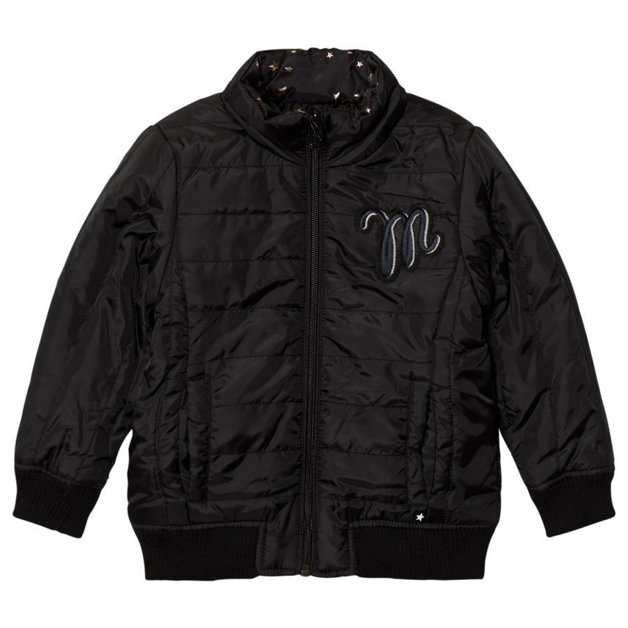 Molo Reversible Hailey Jacket Black Star Bomber Takki