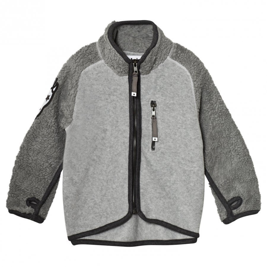 Molo Rock Fleece Jacket Grey Melange Fleece Takki