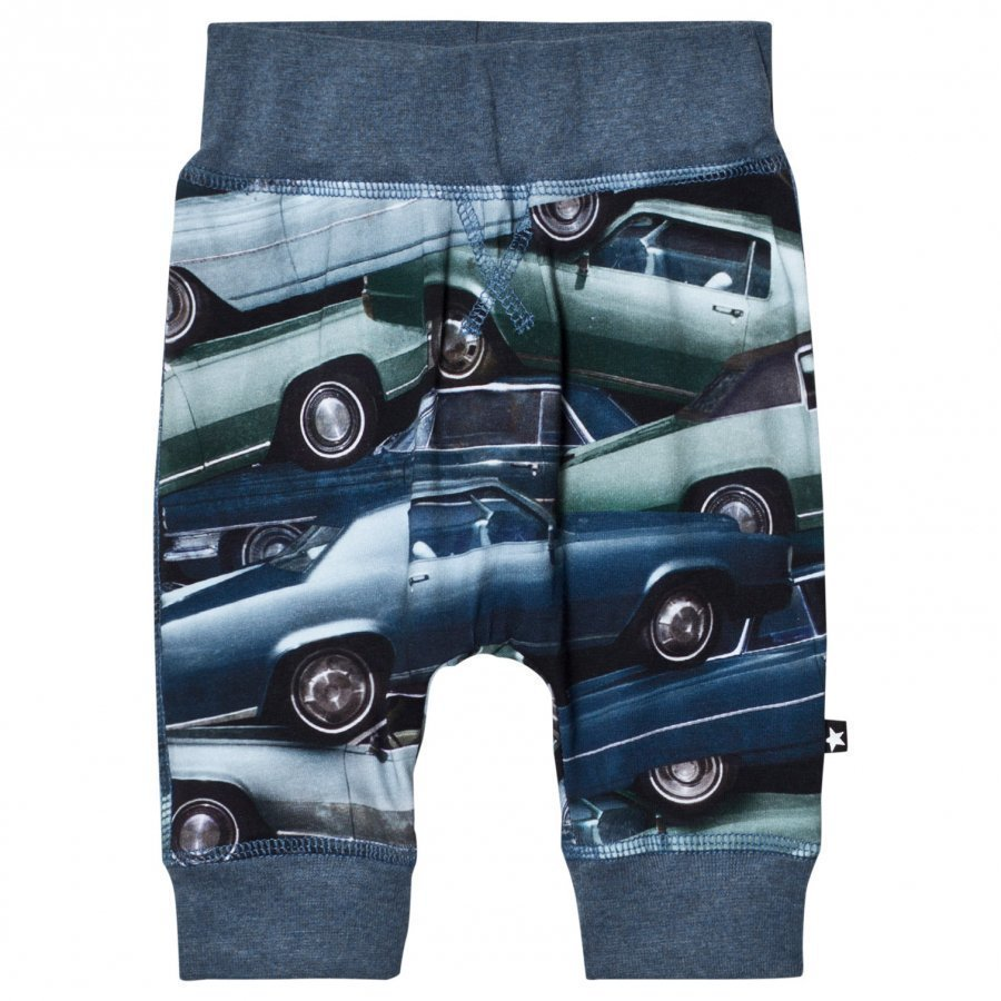 Molo Sammy Soft Pants Stacked Cars Verryttelyhousut