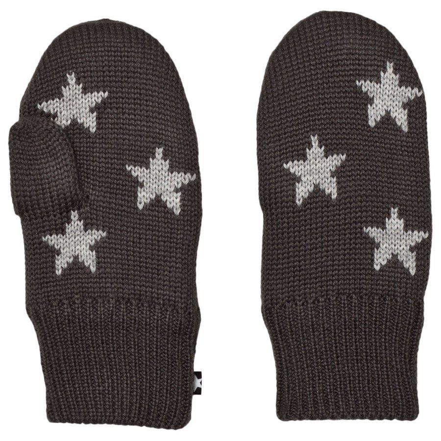Molo Snowfall Mittens Pirate Black Rukkaset