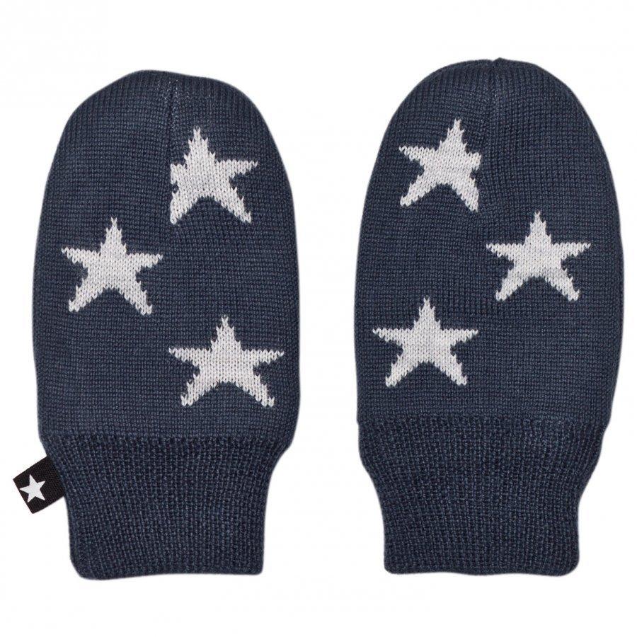 Molo Snowflake Mittens Midnight Navy Rukkaset