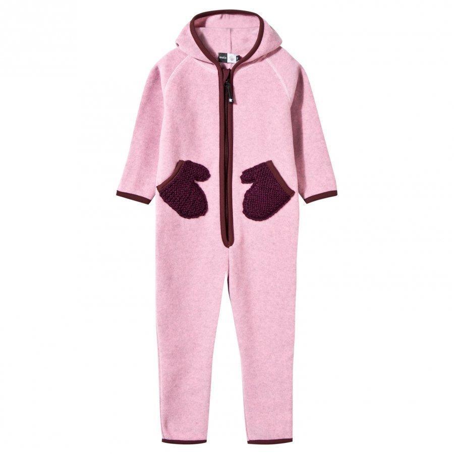 Molo Udo Fleece Onesie Carnation Pink Fleece Haalarit