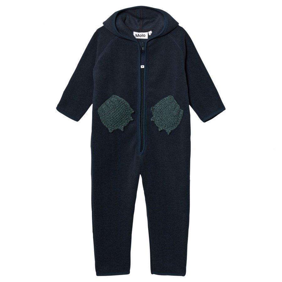 Molo Udo Fleece Suit Midnight Navy Fleece Haalarit