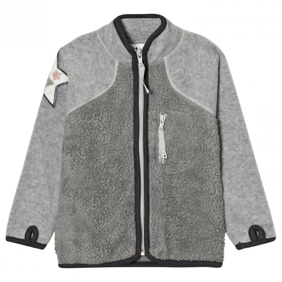Molo Uma Fleece Jacket Grey Melange Fleece Takki