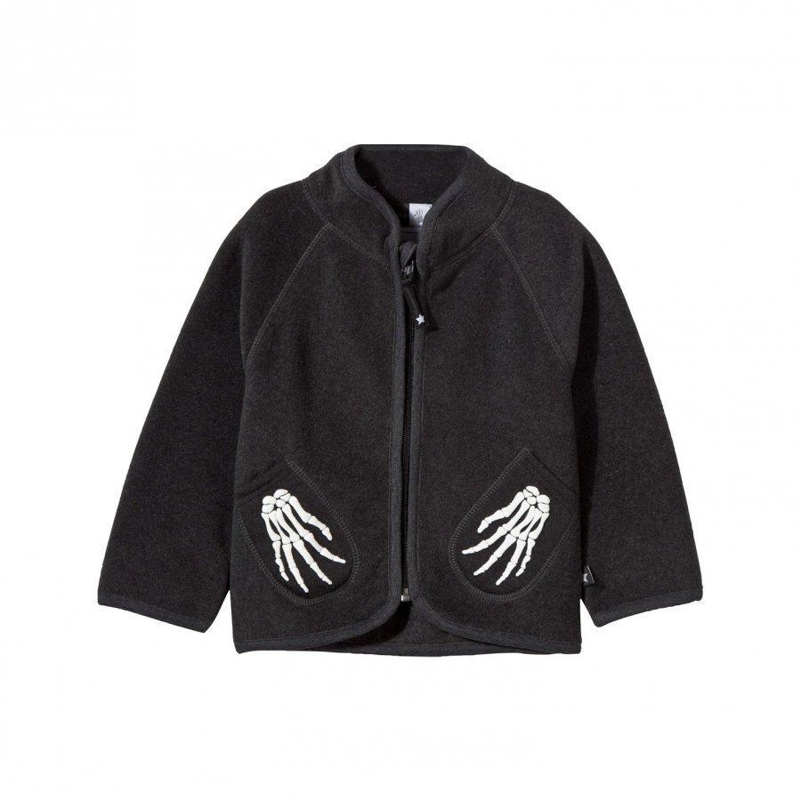 Molo Umo Fleece Jacket Dark Grey Melange Fleece Takki