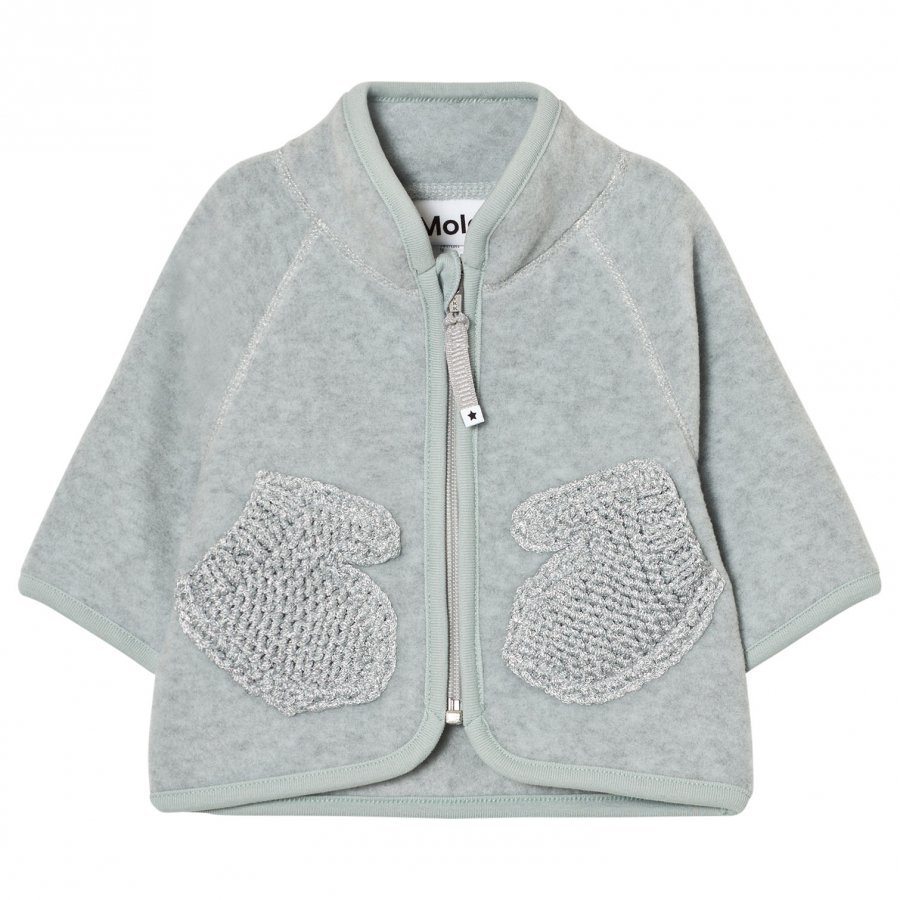 Molo Umo Fleece Jacket Sky Grey Fleece Takki