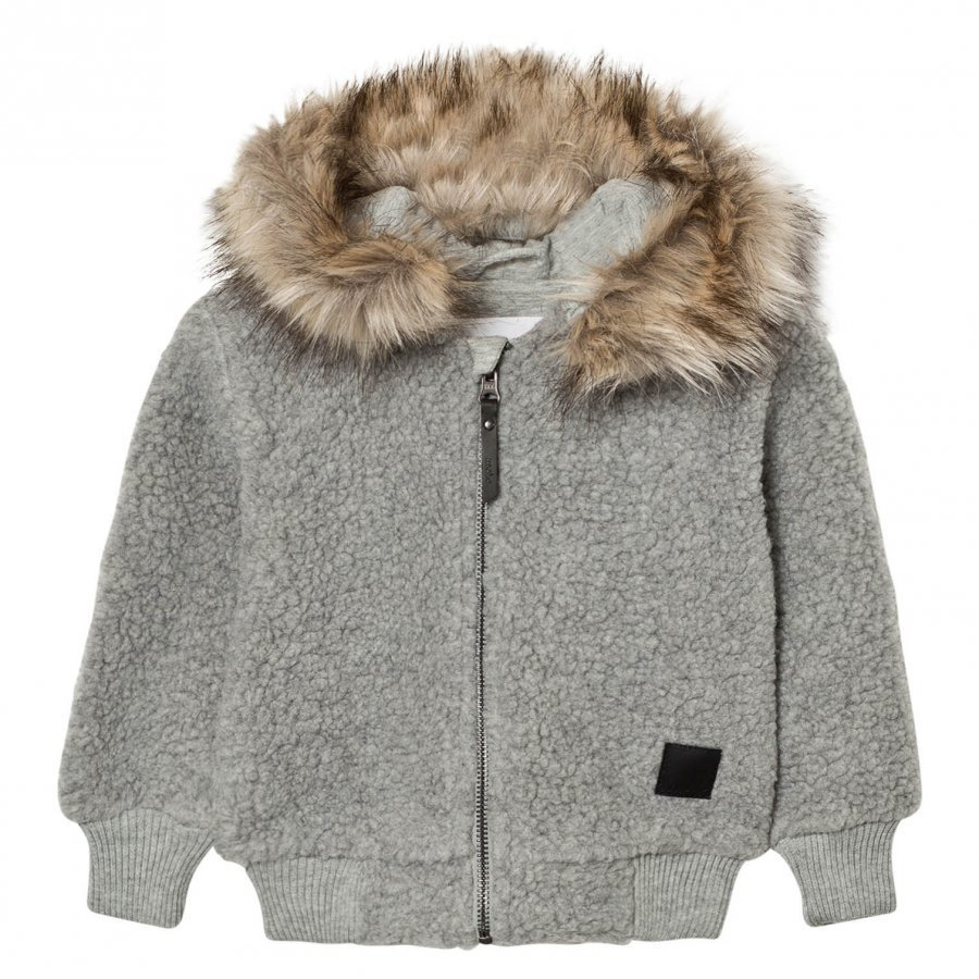 Molo Ursula Fleece Jacket Grey Melange Fleece Takki