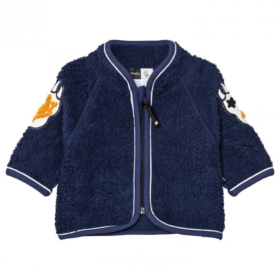 Molo Urvan Fleece Jacket Navy Blue Fleece Takki