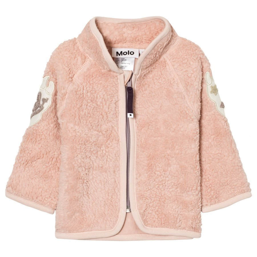 Molo Urvan Fleece Jacket Peach Whip Fleece Takki