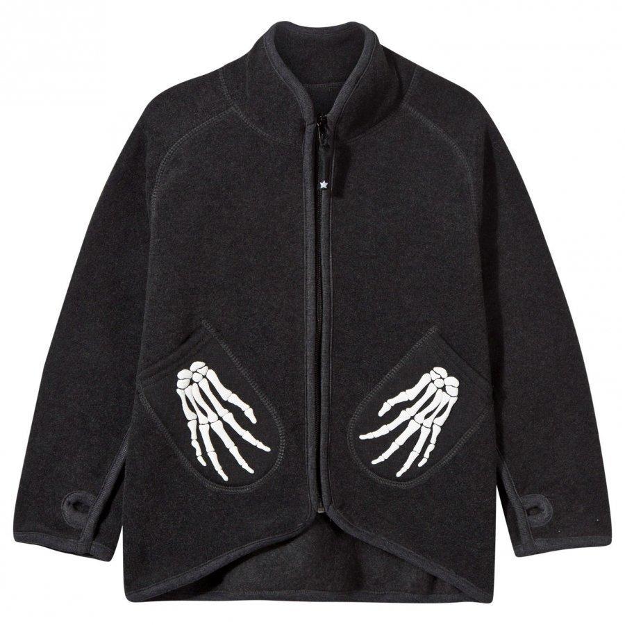Molo Ushi Fleece Jacket Dark Grey Melange Fleece Takki