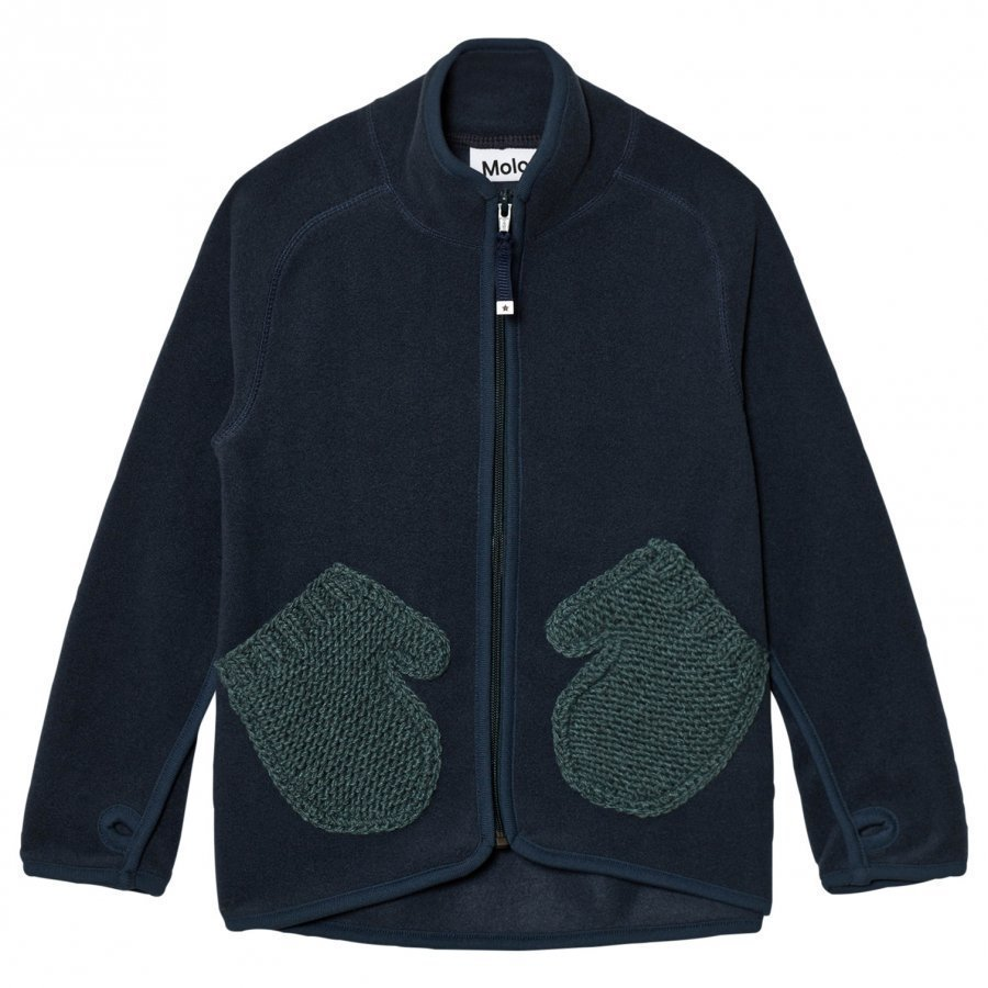 Molo Ushi Fleece Jacket Midnight Navy Fleece Takki