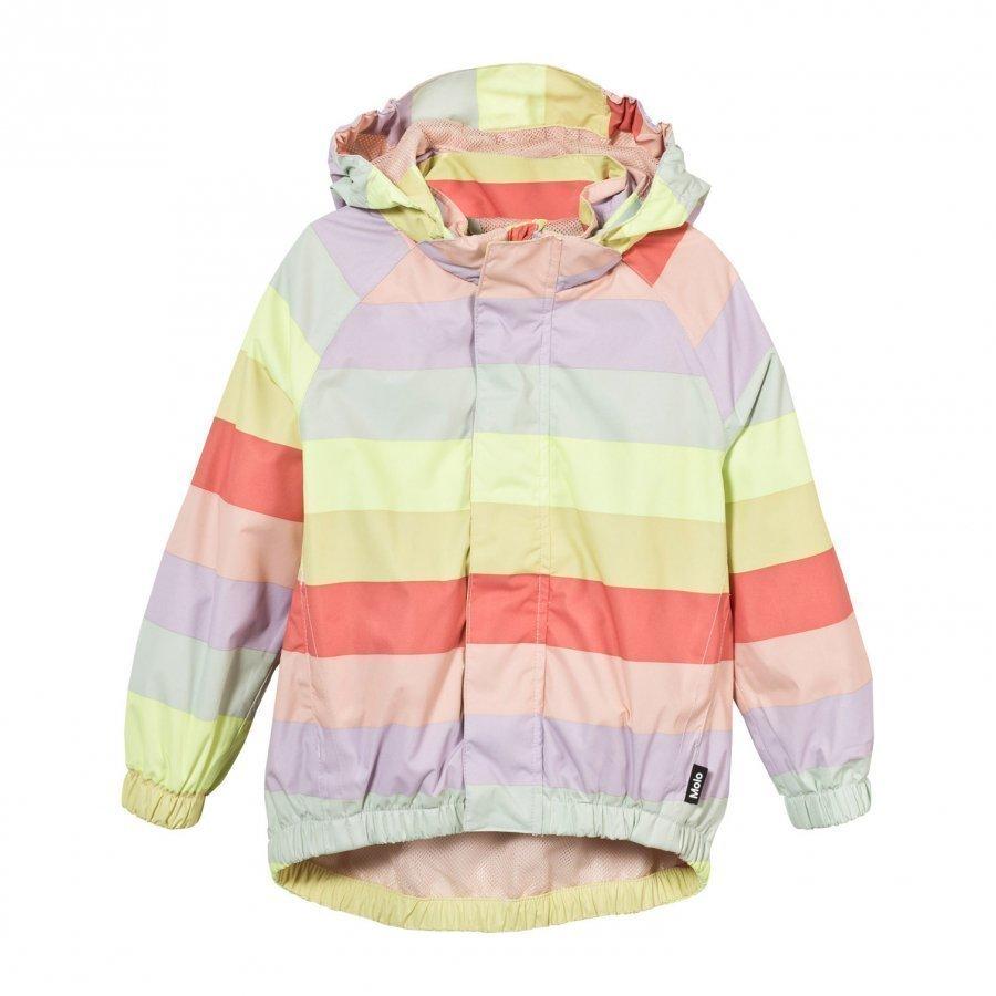 Molo Waiton Rain Jacket Girly Rainbow Sadetakki