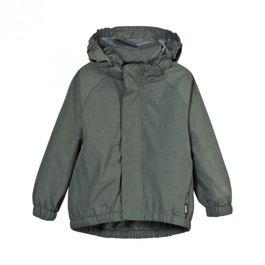 Molo Waiton Rain Jacket Metal Green Melange Sadetakki