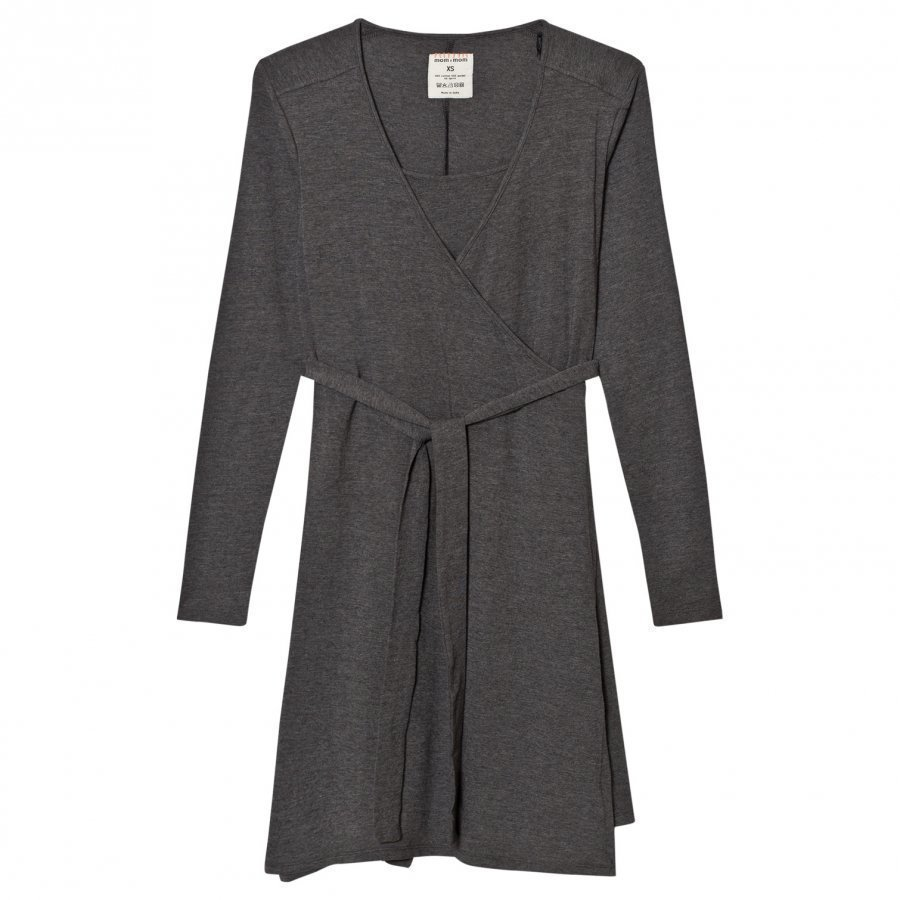 Mom2mom Wrap Dress Grey Melange Imetysmekko