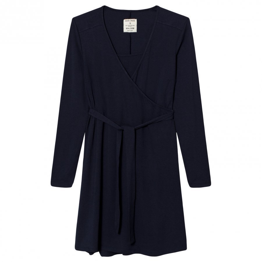 Mom2mom Wrap Dress Navy Imetysmekko