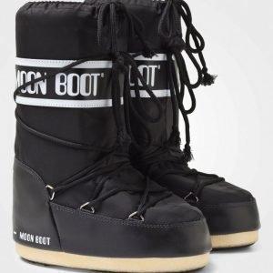 Moon Boot Black Korkeavartiset Saappaat