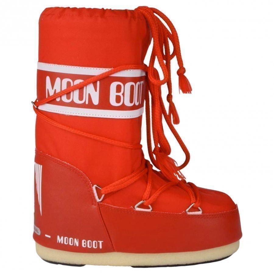 Moon Boot Red Korkeavartiset Saappaat