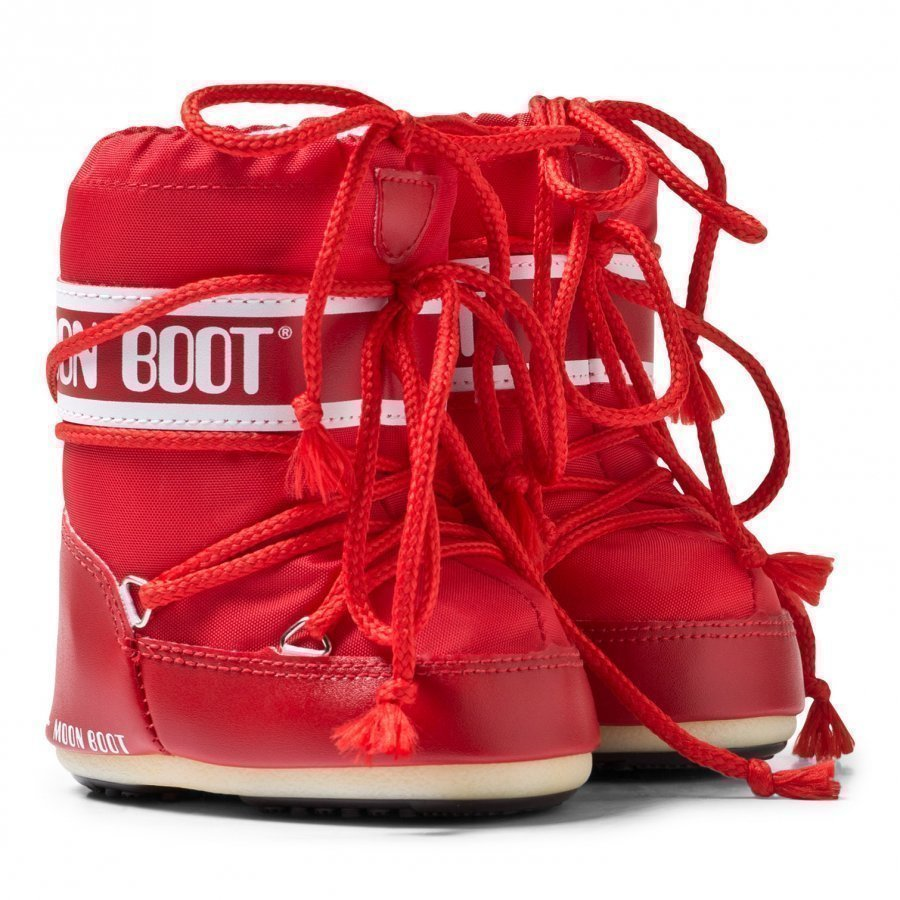 Moon Boot Red Mini Moon Boots Talvisaappaat