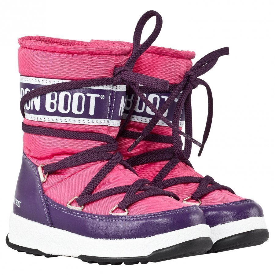 Moon Boot We Sport Jr Bouganville Korkeavartiset Saappaat